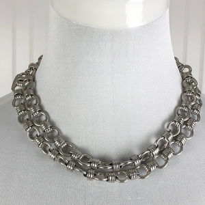 Silver Chunky Two Strand Necklace Coldwater Creek